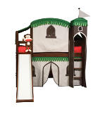 Mission Twin Loft Bed with Play Area and Fun Slide