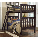 Highlands Harper Twin over Twin Bunk Bed - Espresso